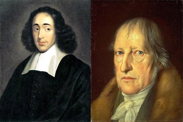 Baruch Spinoza y G. W. F. Hegel
