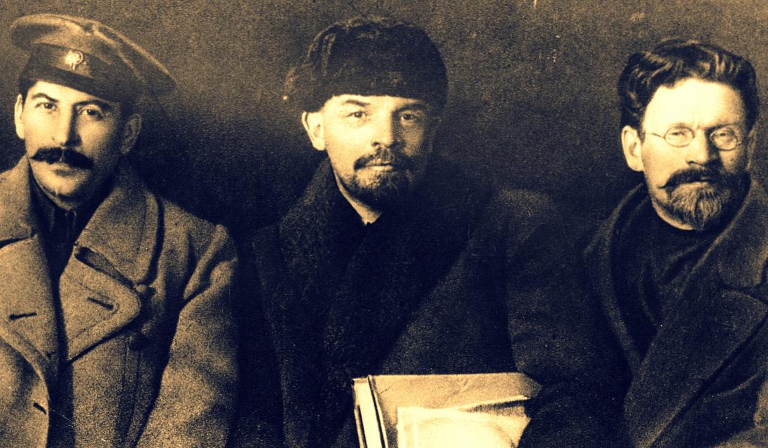 Stalin, Lenin y Trotsky.