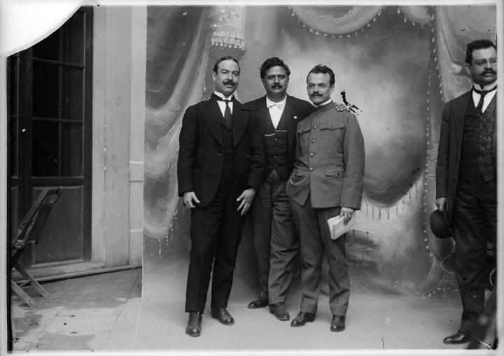 Los diputados Hilario Medina, Heriberto Jara y Francisco J. Múgica