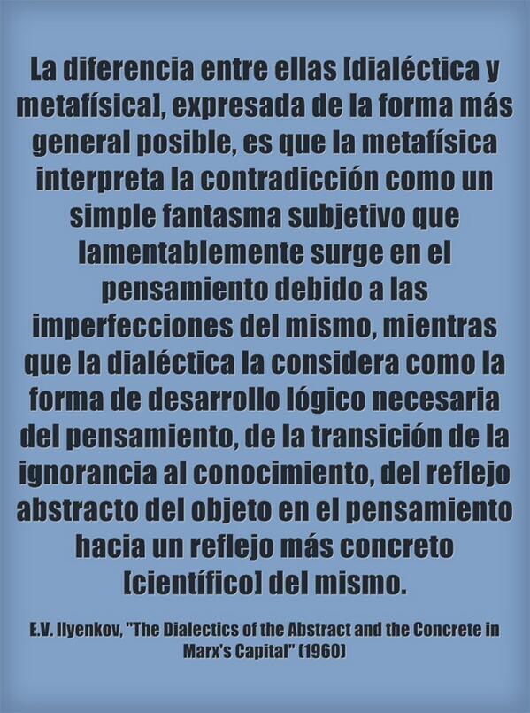 dialéctica vs metafísica