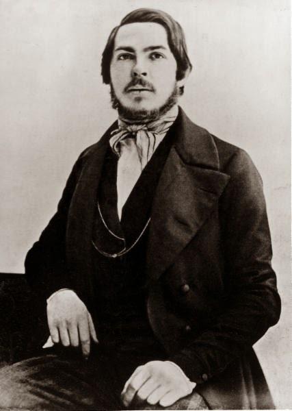 Friedrich Engels en 1840.