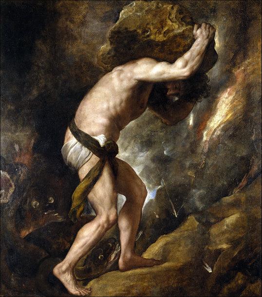 Sisyphus por Tiziano, 1549