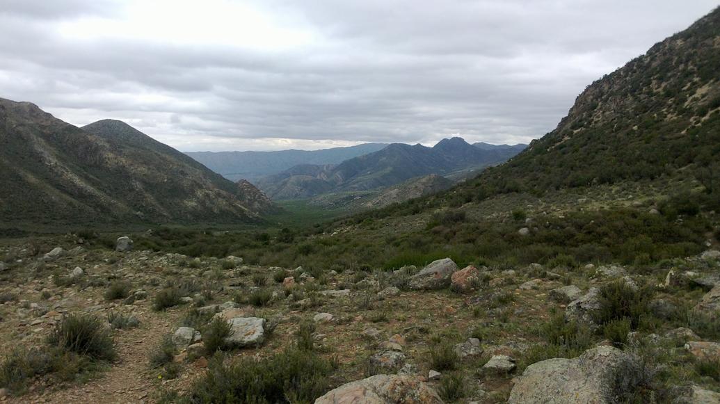 Hacia el valle.