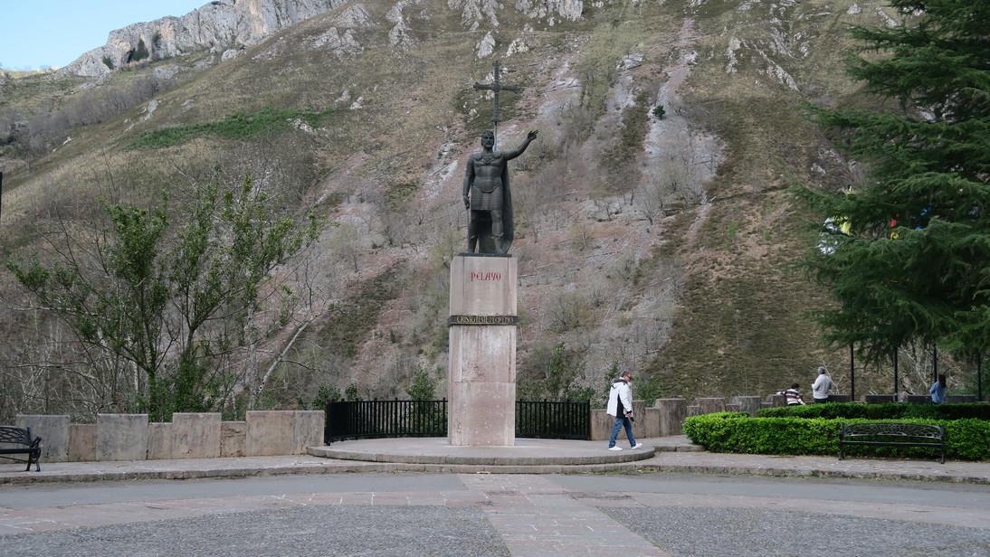 Pelayo en Covadonga.