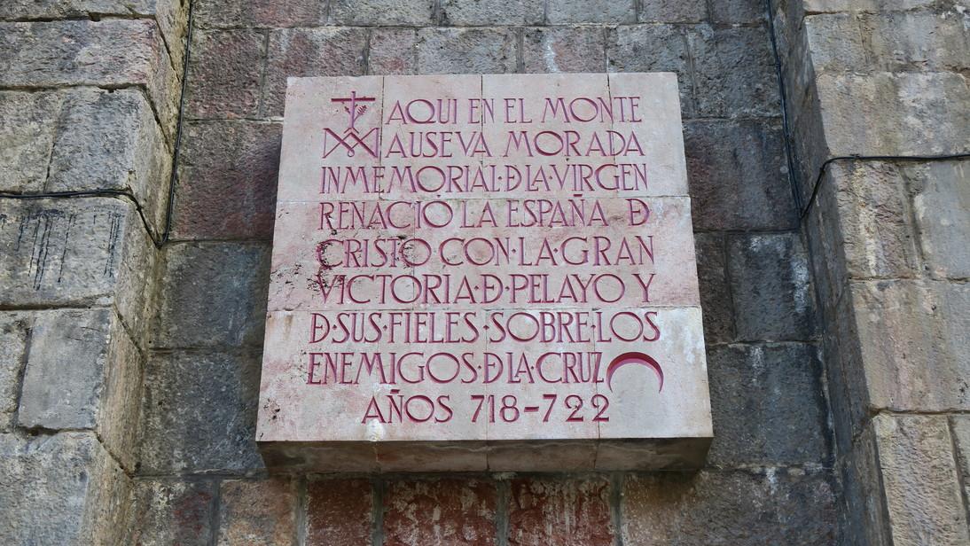 Inscripción en Covadonga.