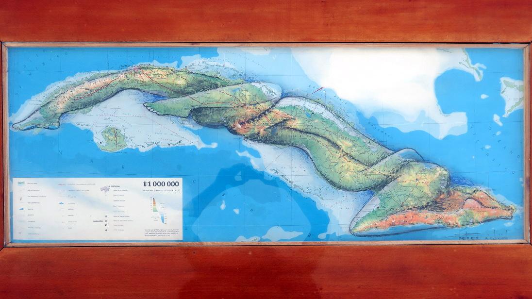 Collague del mapa Cuba.