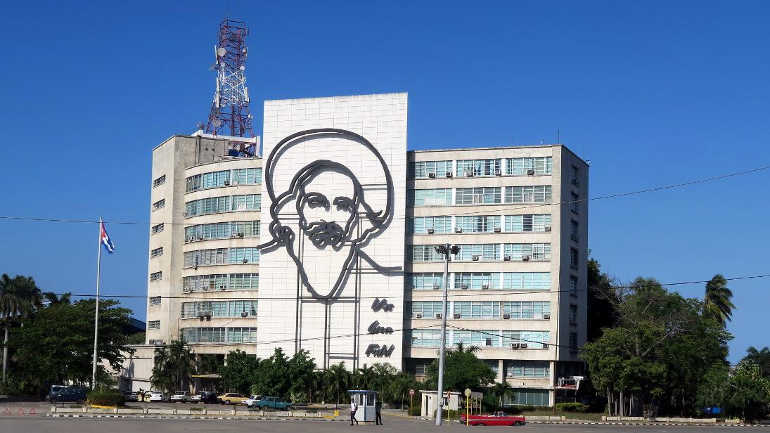 Camilo Cienfuegos en la Plaza de la Revolución.