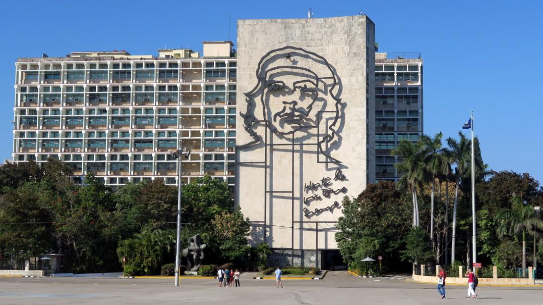 Ernesto Che Guevara en la Plaza de la Revolución.