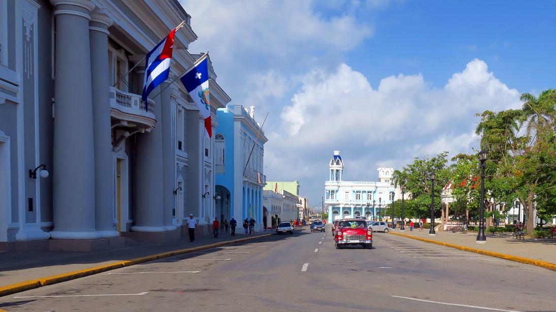 Calle San Fernando en Cienfuegos.