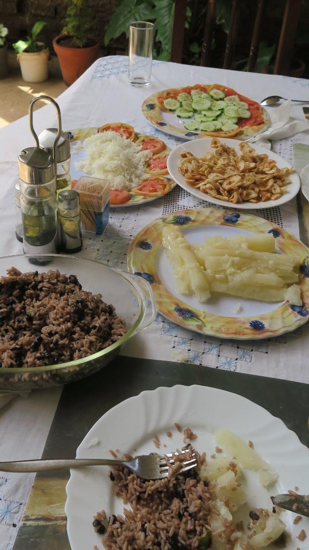 Comida vegana en Trinidad.