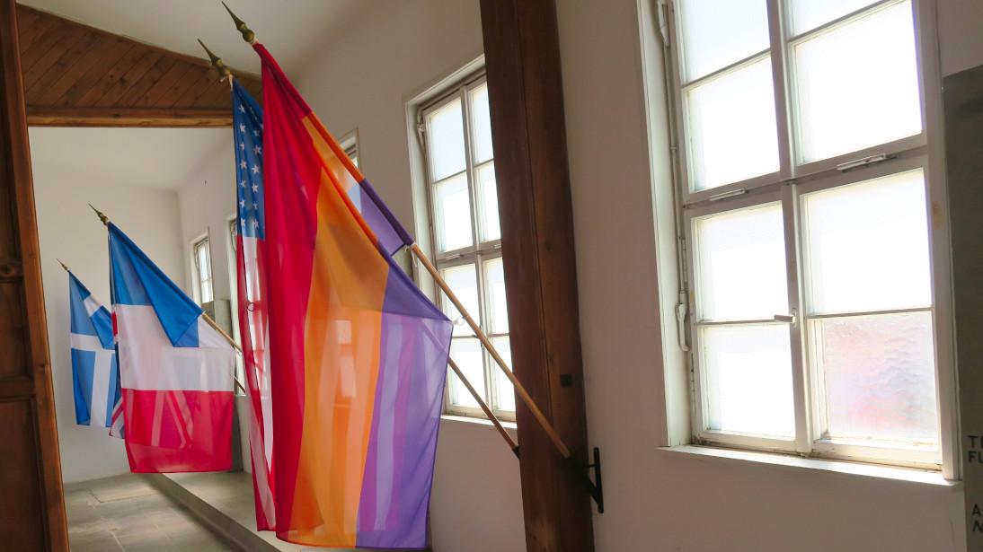 Bandera de la República Española en Mauthausen.