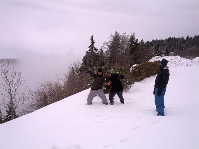 La nieve, de lejos, siempre es divertida.
