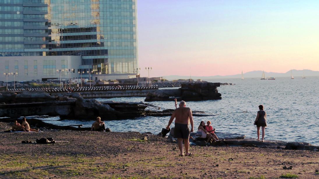 Playa cerca de Sportivnaya Gavan.