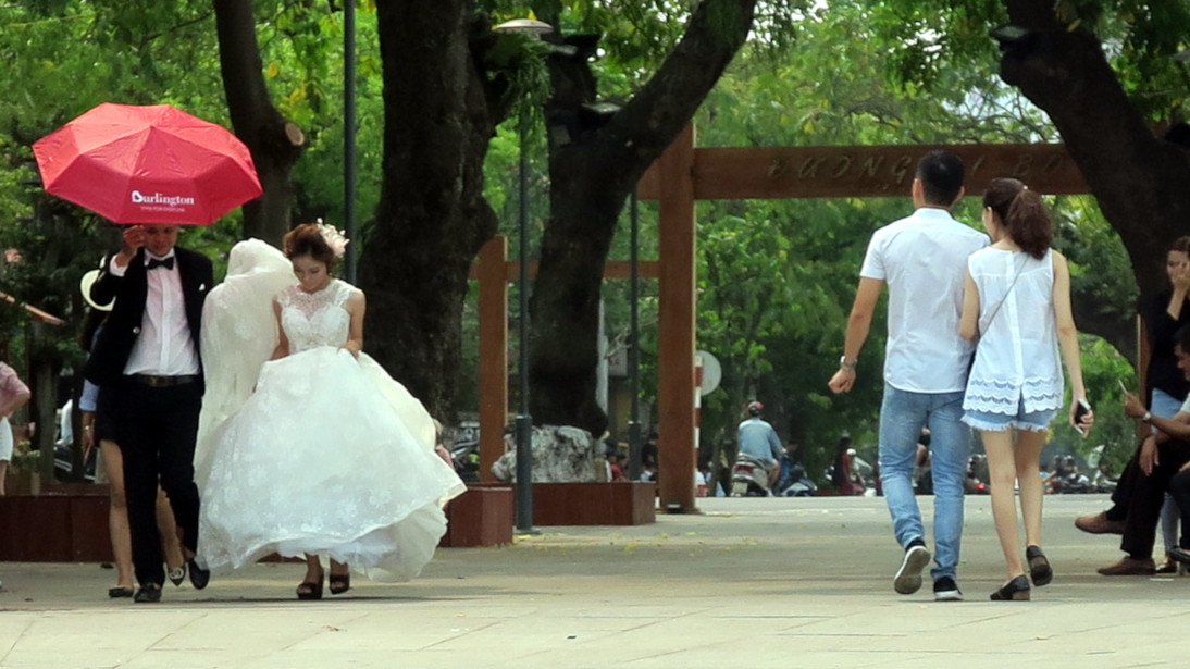 Recién casados en Huế.