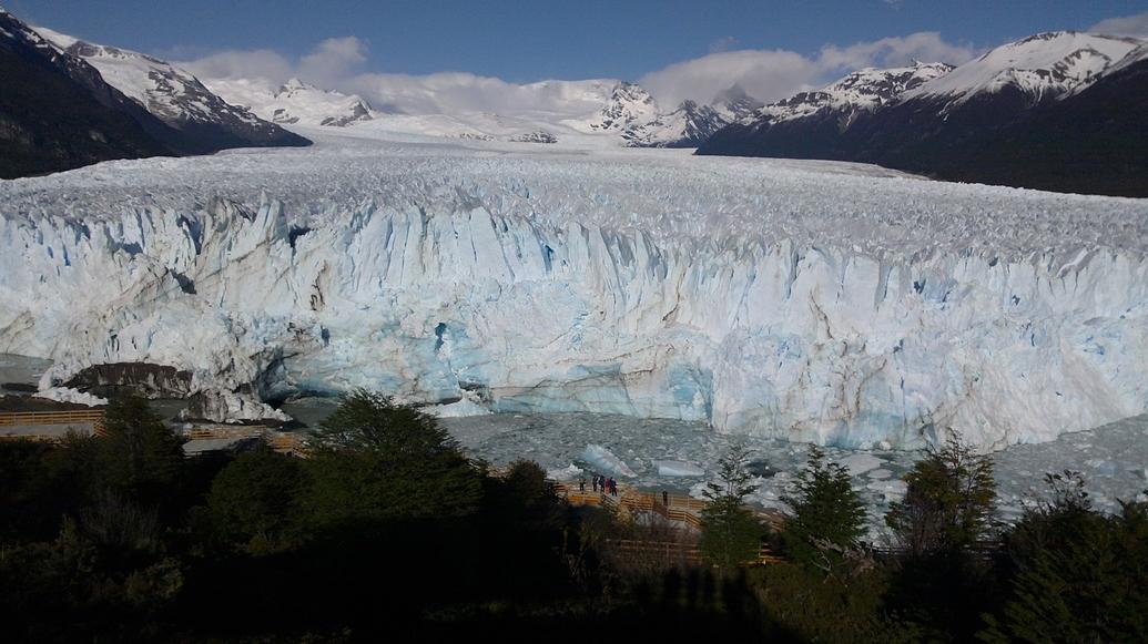 Glaciar desde el mirador.