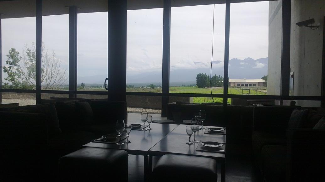 Cata frente a los Andes.