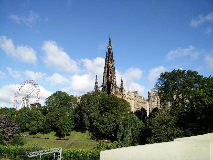 Mi primer vista de Edinburgh.