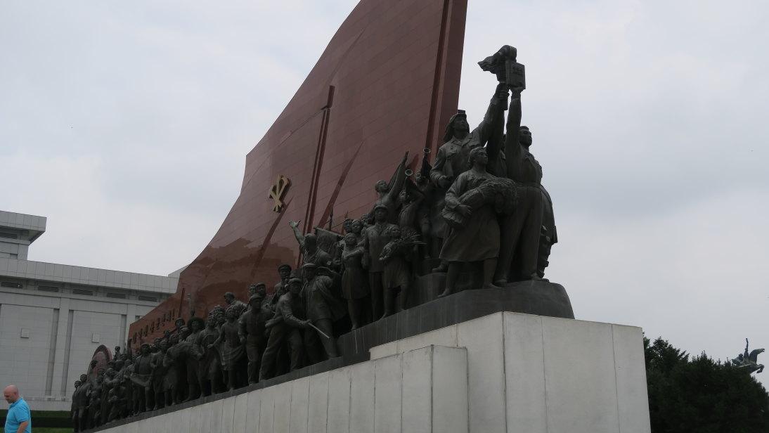 Un lateral del Gran Monumento de la colina Mansu.