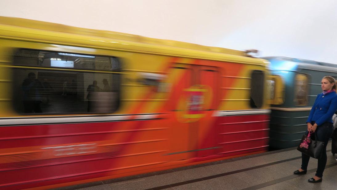 Moscovita esperando el metro.