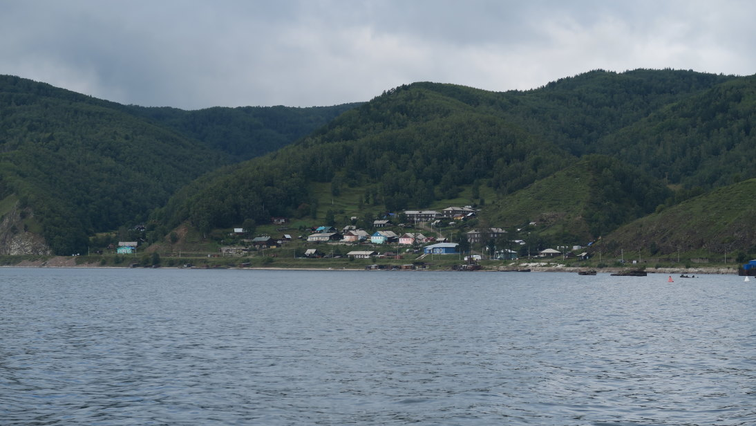 Aldea allende al Baikal.