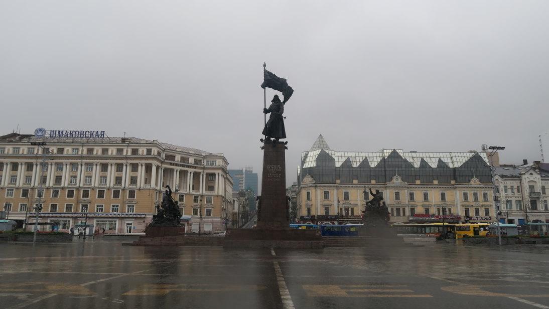 Monumento a los combatientes por el poder soviético.