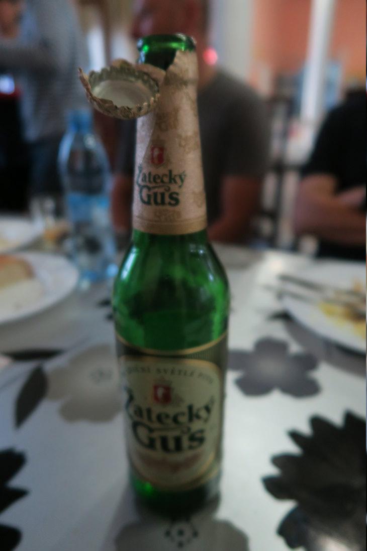 Cerveza regalada en la estación de Иркутск (Irkutsk)
