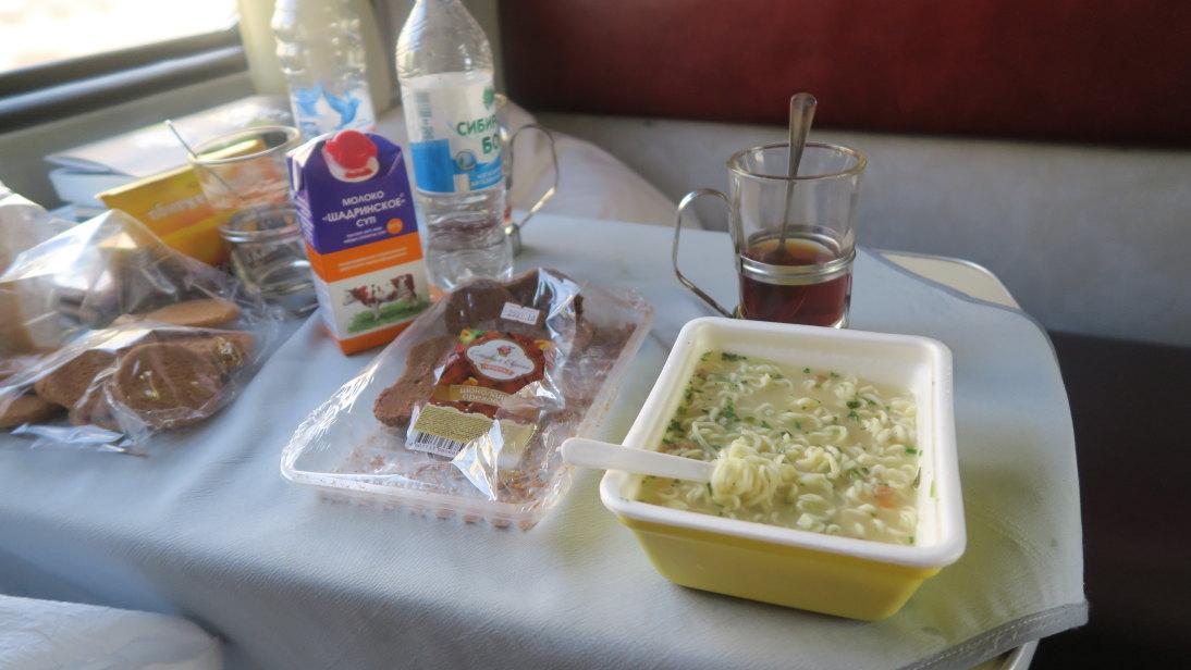 Comida típica del Transiberiano.
